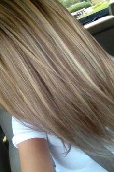 Dark ash blonde with platinum highlights                              …