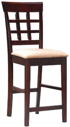 """Coaster Contemporary Style Counter Height Stools, Cappuccino Finish, Set of 2"""" Coaster Home Furnishings,http://www.amazon.com/dp/B000PEWO8M/ref=cm_sw_r_pi_dp_DDWztb1MYK4XZPHY"""