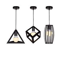 COLORLED Chandelier Lamp Modern Minimalist Fashion Three Industrial Iron Bar Restaurant Balcony Aisle Lighting (3 In 1) -- Awesome products selected by Anna Churchill
