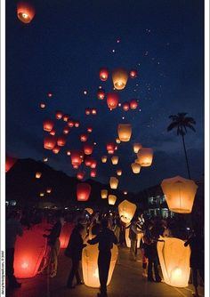 c'est beau les lanternes volantes