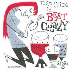 Derek Yaniger - Beat Crazy by Derek Yaniger | Circus Posterus