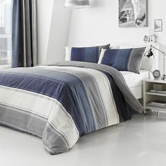 Blue Finley Bedlinen Collection | Dunelm