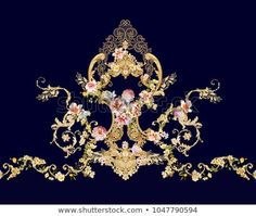 Find Deformation Flowers Leaves Flowers Art Design stock images in HD and millions of other royalty-free stock photos, illustrations and vectors in the Shutterstock collection. Baroque Decor, Baroque Art, Flower Images, Flower Art, Cushion Embroidery, Baroque Pattern, Victorian Pattern, Paisley Art, Ornaments Design