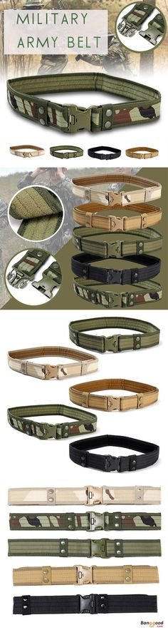 US$8.99 + Free shipping. 130CM Mens Military Army Tactical Belt Swat Combat Hunting Outdoor Sports Belt. Color: Black, Khaki, Woodland, Desert Camo, Green. Material:High-Density Oxford Cloth >>> To view further, visit now.