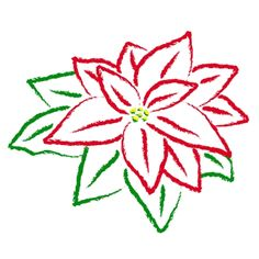 A very fun site with lots of easy drawings to try, and of course, this lovely poinsettia.