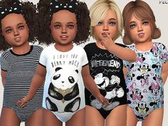 Sleepwear 020 available in 4 styles. Found in TSR Category 'Sims 4 Toddler Female'-Toddler Sleepwear 020 available in 4 styles. Found in TSR Category 'Sims 4 Toddler Female' The Sims 4 Kids, Toddler Cc Sims 4, The Sims 4 Bebes, Sims 4 Toddler Clothes, Sims 4 Cc Kids Clothing, Sims 4 Children, Sims 4 Mods Clothes, Toddler Outfits, Kids Outfits