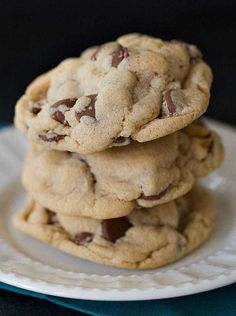 Soft & Chewy Peanut Butter-Chocolate Chip Cookies - add PB Fit to increase the PB flavor