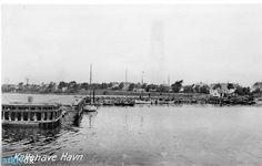 arkiv.dk | Kallehave havn. Drivkvaser, mellem 1925 og 1935. Langebæk Lokalhistoriske Arkiv B131