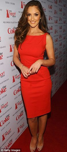 Red dresses are great. It helps if you're this gorgeous as well.