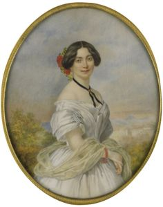 Mlle Henriette Sontag (1806-1854), painted in 1850.