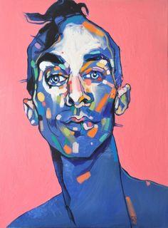 """Dominik Jasiński, """"You don\t stand a chancebr"""", olej na płótnie Portraits, Portrait Art, Portrait Paintings, Portrait Ideas, Bright Colors Art, Acrylic Portrait Painting, Kunst Online, Museum, New Artists"""