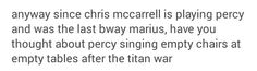 Percy Jackson musical Chris McCarrell