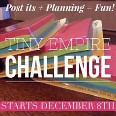 Join my FREE 8 day challenge!  We'll use post-it notes and social media to plan our 2015 goals and build our community.