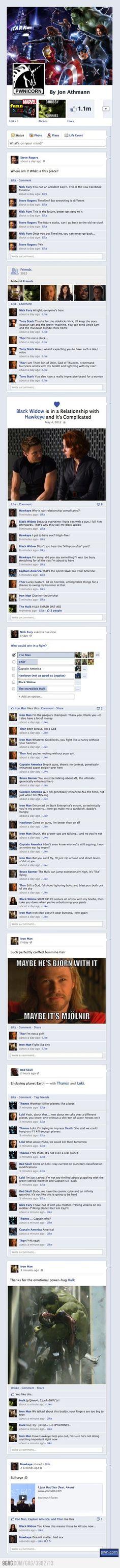 Hilarious...Avengers Facebook convo