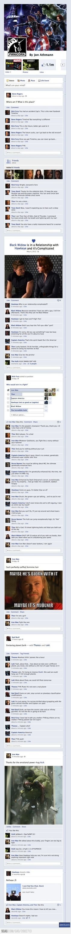 haha the black widow in a relationship with hawkeye made me laugh