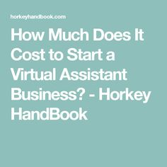 How Much Does It Cost to Start a Virtual Assistant Business? - Horkey HandBook