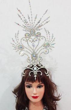 Da NeeNa 6A Showgirl Drag Samba Beauty Pageant Crystal Headdress Crown Tiara…