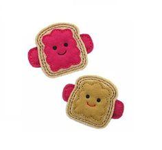 Peanut Butter & Jelly Felt Hair Clip