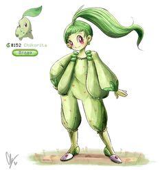 "endifi ❄️ on Instagram: ""152. Chikorita . . ✨🌱✨ . #pokemon #pokémon #pokemongo #pokemongijinka #pokemonhumanized #pokemonart #pokedex #pokemonswordshield…"" Pokemon Gijinka, Pokemon Go, Pokemon Stuff, Fictional Characters, Instagram, Osteogenesis Imperfecta, Draw, Artists, Drawings"