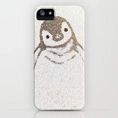The Little Intellectual Penguin iPhone & iPod Case by Paula Belle Flores - $35.00