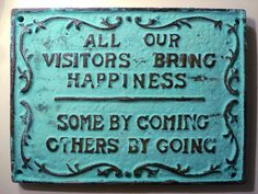 happiness of coming and going