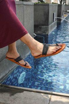 Black Kolhapuri Chappal, Women Sandals, Foot Wear, Kolhapuri, Chappal, Black