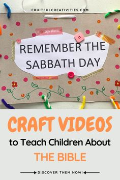 Struggling to Keep the Sabbath a Delight for Your Children?Fruitful Creativities Crafting Club is the answer to your need, offering free craft videos for your children. #christianparenting #kidscrafts #biblecrafts Sunday School Activities, Bible Activities, Indoor Activities For Kids, Bible Crafts For Kids, Easy Crafts For Kids, Toddler Crafts, Christian Crafts, Christian Kids, Preschool Age