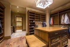 The master closet. The Stocks, whose main home is in Texas, are selling because they decided to focus on their other properties.