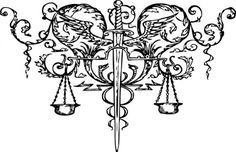 Justice Scale Tattoo - Cliparts.co