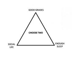 Haha so true u can only have two!! Comment ur choice below!! Mine is social life and good grades :)