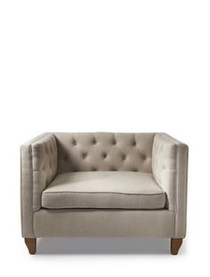 manhattan loveseat linen flax