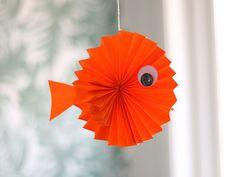 Knutselen met papier. Vouw deze guitige vis of maak één van de andere 9 knutselideeën.