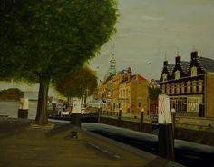 Groothoofd met Jongepier (met op de voorgrond het bekende café Jongepier te Dordrecht - gezien vanaf het Damiate Bolwerk). Dick Dijker