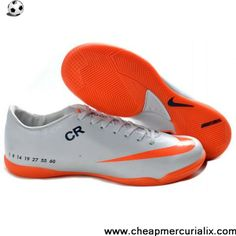 19eeb0032455 Buy Discount white orange Nike Mercurial Vapor IX IC Victory V Football  Shoes Shop