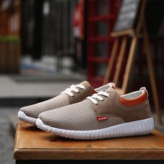 8dedab89a5426e Fashion Men Mesh Fabric Breathable Shock Absorption Sneakers Sport Running  Shoes - NewChic Mobile. Suit