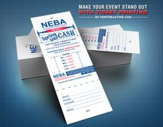 #event #raffle #ticket #tickets #ticketprinting #printing #design #print northeastink.com