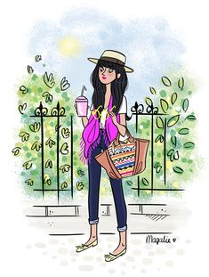 C'est été !!! - Illustration de Magalie Foutrier.