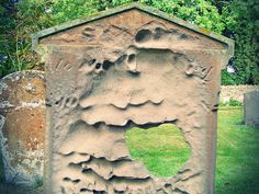 weathered gravestone in Northamptonshire, England by EIDel777 on flickr
