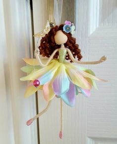 Fairy Crafts, Doll Crafts, Diy Crafts For Gifts, Diy Arts And Crafts, Fabric Dolls, Paper Dolls, Worry Dolls, Felt Fairy, Unicorn Crafts