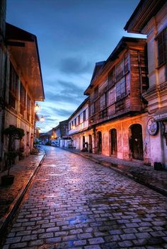 Vigan, Philippines (this picture is the part of the of the city that's actually worth seeing) Philippines Destinations, Philippines Vacation, Philippines Culture, Philippines Cities, Manila Philippines, Places To Travel, Places To See, Travel Destinations, Vigan Philippines