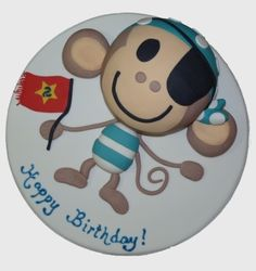 Smooch Cakes Cheeky Monkey Birthday Cake
