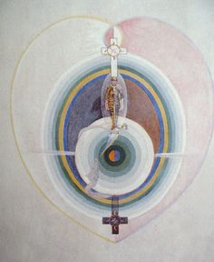 """Hilma af Klint (October October was a Swedish artist and mystic whose paintings were amongst the first abstract art. She belonged to a group called """"The Five"""" and her paintings. Piet Mondrian, Wassily Kandinsky, Abstract Painters, Abstract Art, Hilma Af Klint, Santa Lucia, Visionary Art, Art Abstrait, Abstract Photography"""