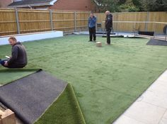 Work in progress! #landscaping #artificialgrass #namgrass
