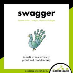 Word of the Day: SWAGGER #ESL #LearnEnglish #English #WordoftheDay #Vocabulary #inglés #Englanti #英語 #английский #Englisch #Inglese #英语 #Engels #영어 #engelsk #Anglais #Αγγλικά #انگلیسی #Engleski Slang English, English Phrases, English Idioms, English Writing, English Lessons, English Grammar, French Lessons, Spanish Lessons, Advanced English Vocabulary