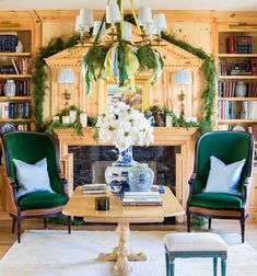 "@hillarytinteriors on Instagram: ""blue and green and christmasy! #hwtinteriors @lindsay_salazar_photography"""