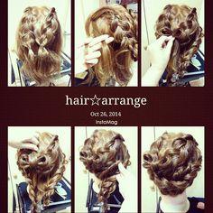 #hairstyle #hairarrange #ヘアアレンジ解説 #ヘアアレンジ #簡単ヘアセット #リボンヘア #アップスタイル #ヘアセット #InstaMagAndroid#erinaヘア