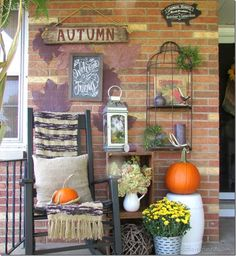 Rustic Porch for Fall