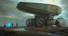 alien planet exploration team, Dmitriy Rabochiy on ArtStation at https://www.artstation.com/artwork/4qvwk