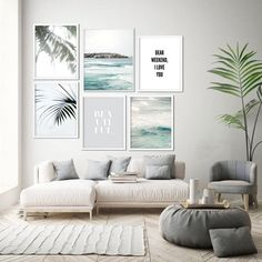 Modern minimalist wall art prints and home decor by OjuDesign Print Ark, Oju Design, Beach Coastal Art Home Decor Bedroom, Living Room Decor, Bedroom Modern, Living Room Prints, Coastal Bedrooms, Dining Room, Art Mur, Deco Studio, Grey Wall Art
