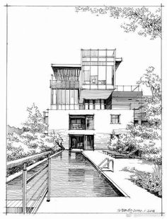 Super house sketch architecture inspiration Ideas Drawing Tips house drawing Interior Architecture Drawing, Architecture Drawing Sketchbooks, Architecture Concept Drawings, Architecture Building Design, House Architecture, Landscape Architecture, Architecture Models, Security Architecture, Architecture Illustrations